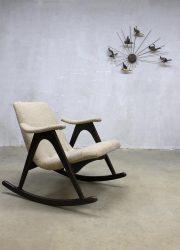 midcentury modern rocking chairs Dutch design Louis van Teeffelen Webe vintage schommelstoel