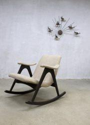vintage retro lounge fauteuil lounge chair rocking chair Webe Louis van Teeffelen Dutch design schommelstoel