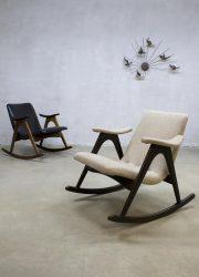 Vintage rocking chairs Webe Louis van Teeffelen schommelstoelen