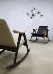 mid century modern schommelstoel fifties sixties Webe Louis van Teeffelen