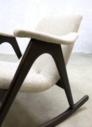 vintage rocking chair original Dutch design Louis van Teeffelen schommelstoel
