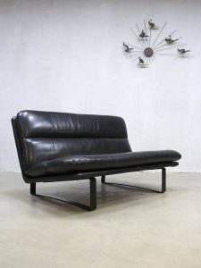 Vintage Dutch design leather sofa leren lounge bank Artifort Kho Liang Ie