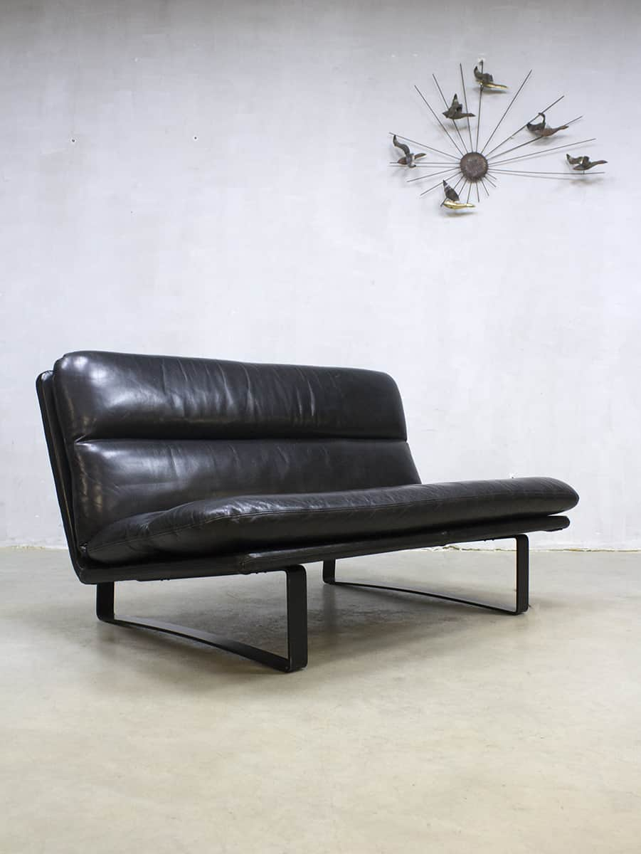 Dutch Design Bank.Vintage Dutch Design Leather Sofa Leren Lounge Bank Artifort Kho