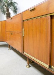 midcentury modern sideboard wall cabinet wall unit Pastoe Patijn Zijlstra Dutch design