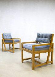 Art deco kubistische lounge stoelen kubic armchairs