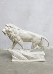 Vintage ceramic Lion figure porcelain XXL porseleinen leeuw Goebel company