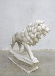 vintage keramieke porseleinen leeuw Goebel Lion porselain figure xxl