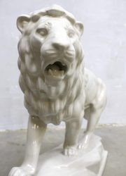 vintage Goebel porseleinen beeld leeuw jaren 60 porselain ceramic figure Lion