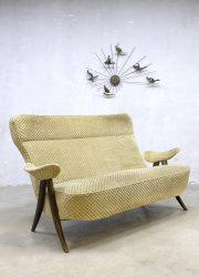 Vintage design two seats sofa tweezits lounge bank Artifort Theo Ruth