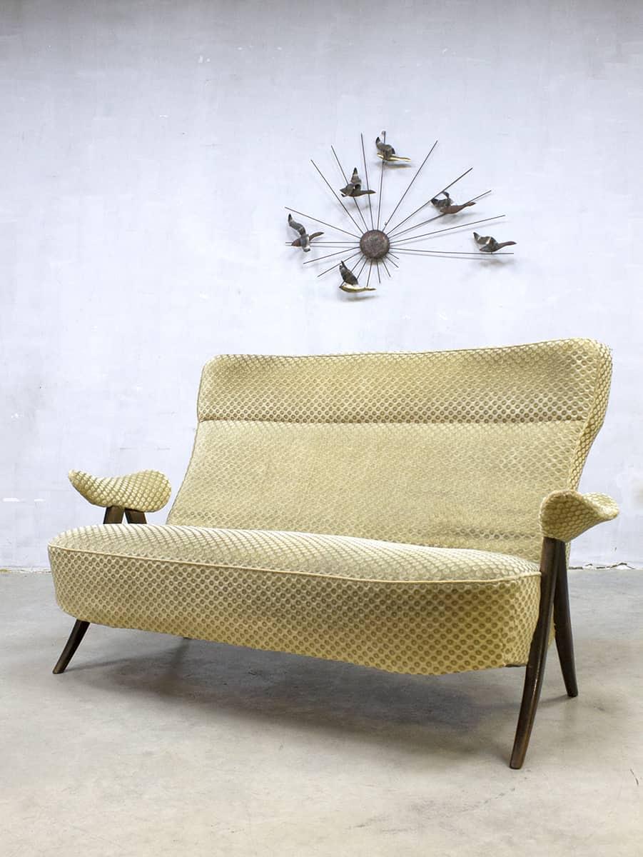 Tweezits Design Bank.Vintage Design Two Seats Sofa Tweezits Lounge Bank Artifort Theo