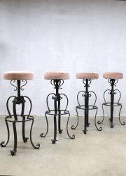 vintage retro barkruk industrieel eclectic stool Industrial barstool