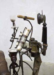 vintage steampunk chair armchair designer H. Dullaart