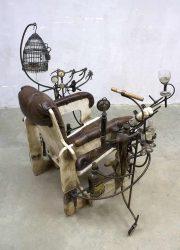 vintage Dutch design art chair steam punkh. Dullaart
