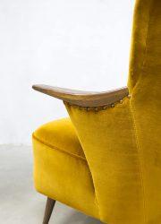 vintage arm chair velvet Scandinavian style interior loft