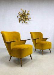Danish midcentury vintage design velvet armchairs clubchair 'pure Luxury'