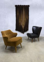 Vintage cocktail stoel chair velvet clubfauteuil velour fifties design Theo Ruth Artifort