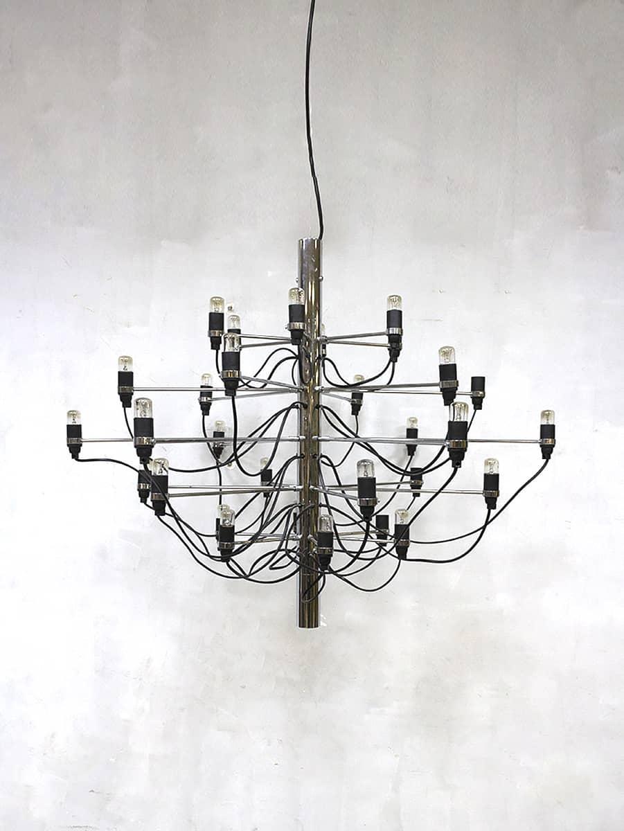 vintage design chandelier pendant lamp hanglamp gino sarfatti voor arteluce