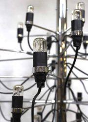 vintage kroonluchter lamp Gino Sarfatti chandelier