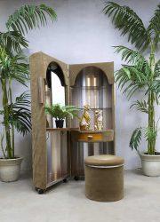 vintage rare velvet dressing table vanity table kaptafel capsule 'Boudoir stijl' Poltrona Frau
