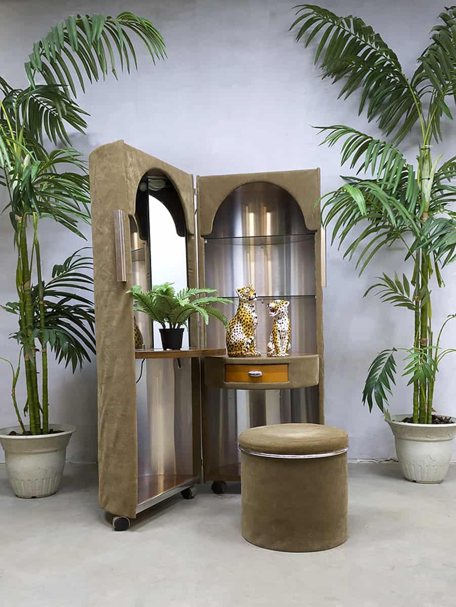 French vintage rare velvet dressing table vanity table kaptafel