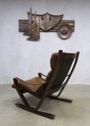 midcentury vintage design rocking chair armchair lounge chair schommelstoel retro Deens Scandinavisch