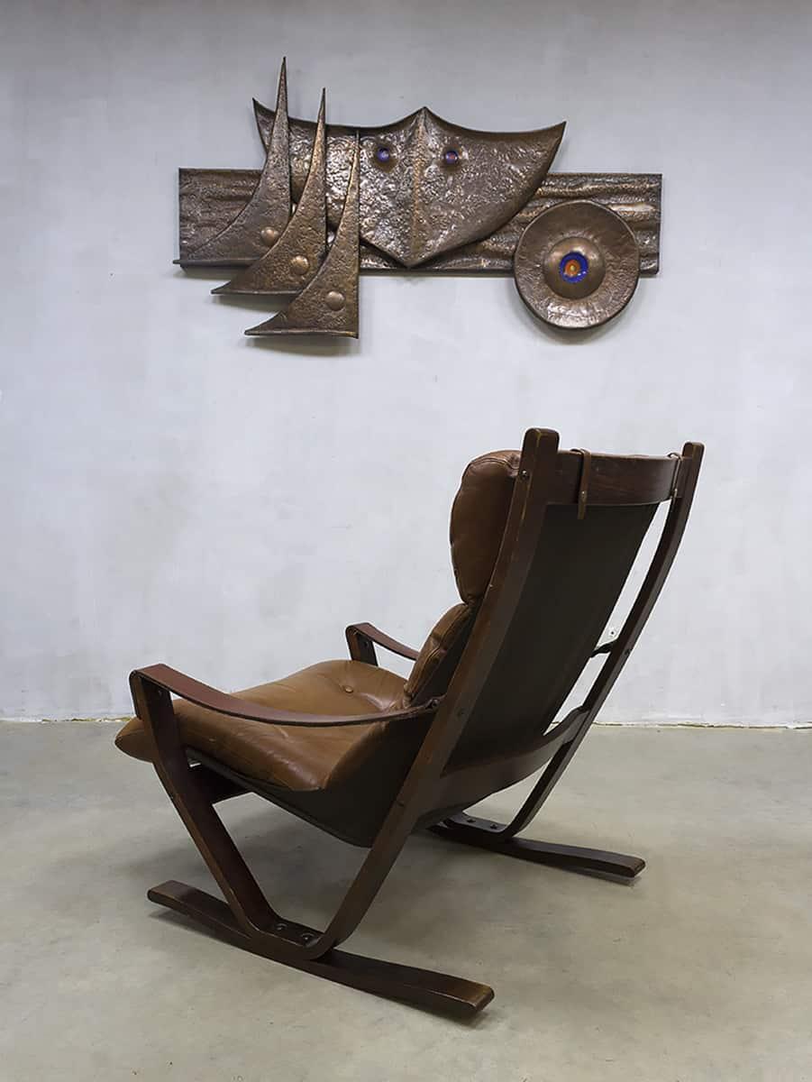 Scandinavisch Design Schommelstoel.Midcentury Vintage Design Rocking Chair Armchair Lounge Chair