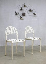 Vintage 'hello there' Popart chairs stoelen Jeremy Harvey Artifort