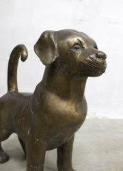 Art deco figurine art statue interior midcentury design dog hond deco