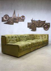 Vintage modular patchwork lounge sofa lounge bank DS11 De Sede