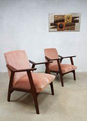 Deense vintage design fauteuils lounge chairs Scandinavisch