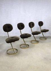 Vintage design eclectic dinner chairs eetkamerstoelen 'Le Moulin Rouge'
