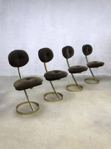 Vintage design eclectic dinner chairs eetkamerstoelen 'Le Moulin Rouge'