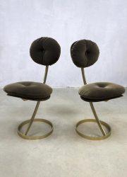 velour eetkamer stoel industrieel stoelen vintage