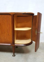 vintage teak houten kast dressoir sideboard fifties design