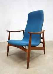 Vintage armchair lounge fauteuil Deense stijl Webe Louis van Teeffelen