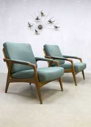 vintage design armchairs lounge chairs Danish Deense design lounge fauteuils