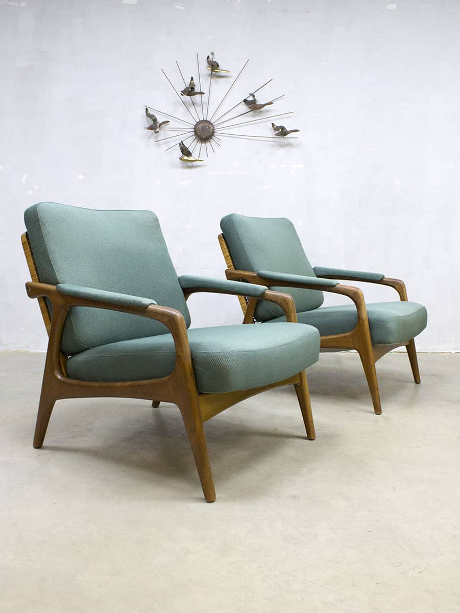 Bank Deens Design.Vintage Danish Design Lounge Set Sofa Armchairs Bank Fauteuils Deens