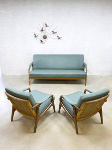 Vintage Danish design lounge set sofa armchairs bank fauteuils Deens
