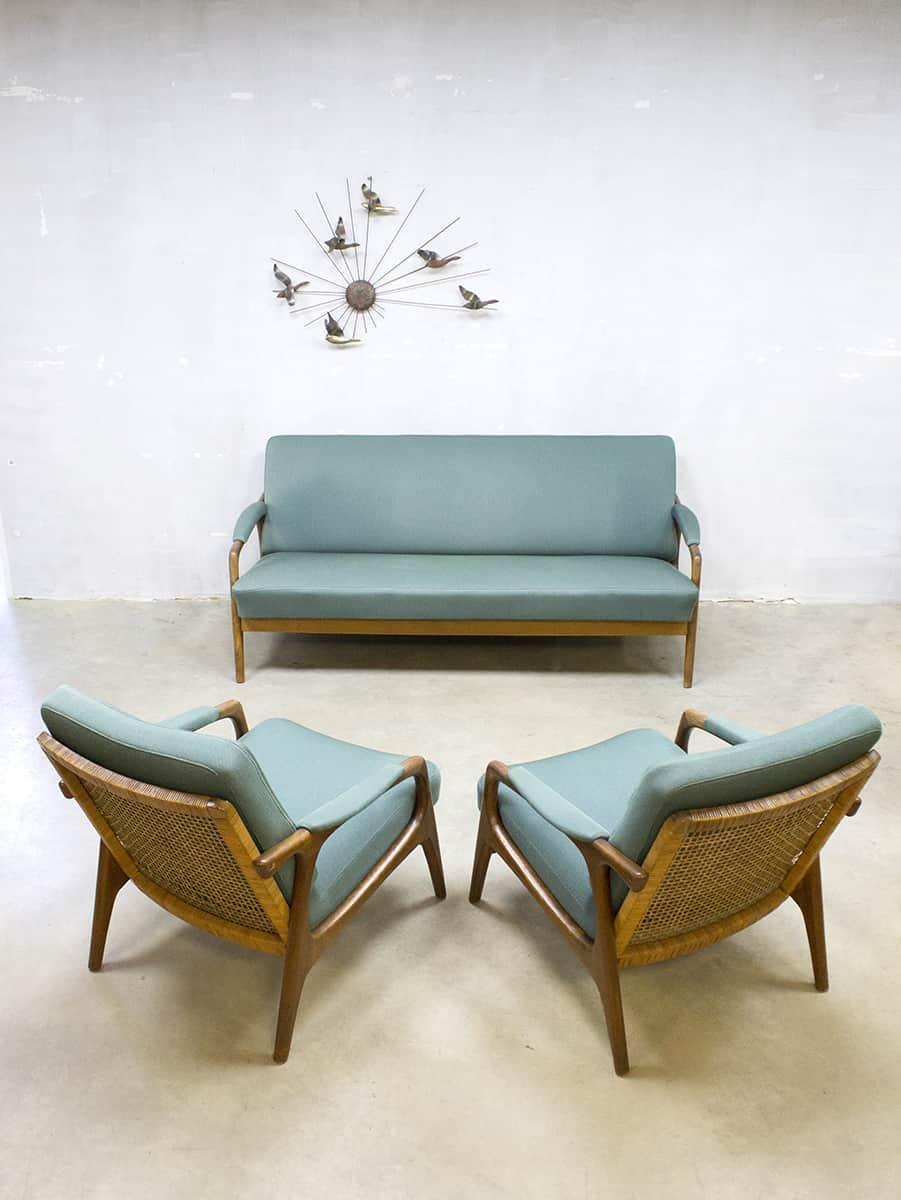 Fauteuils Of Bank.Vintage Danish Design Lounge Set Sofa Armchairs Bank