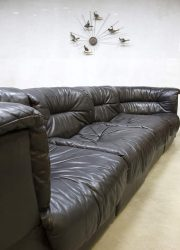 vintage design leren lounge bank madmenstyle leather vintage design sofa De Sede DS 11