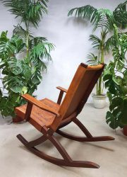 vintage midcentury design rockingchair leather Ecuador