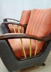 vintage jaren 50 60 lounge fauteuils chairs retro art deco stijl