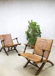 Vintage tuigleren fauteuils lounge armchairs Ecuador Angel Pazmino Peru