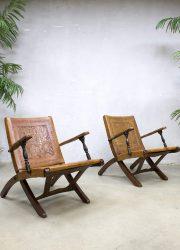 midcentury modern ecuador safari chairs Angel Pazmino bohemian design armchairs