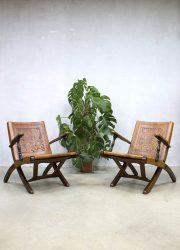 vintage tuigelern lounge fauteuils leder patina Ecuador Angel Pazmino bohemian safari stoel