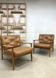 Vintage design lounge chairs fauteuils Eugen Schmidt Soloform