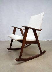 Vintage retro schommelstoel rocking chair Webe Louis van Teeffelen Dutch design