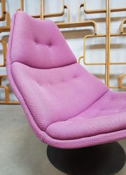 Vintage sixties draaifauteuil swivel chair Artifort Geoffrey Harcourt F590