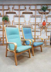 Vintage Danish design armchair highback lounge chair fauteuil Hans Wegner