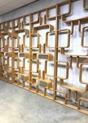 Vintage design wall unit room divider Ludvik Volak, Drevopodnik Holesov